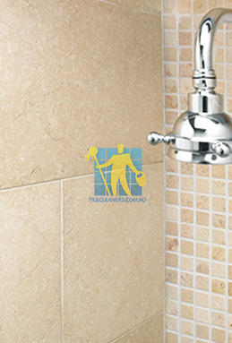 limestone tile shower thala cream Rockdale St George cleaning