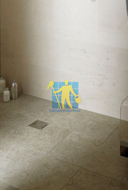limestone tiles shower moleanos blue Rockdale St George cleaning