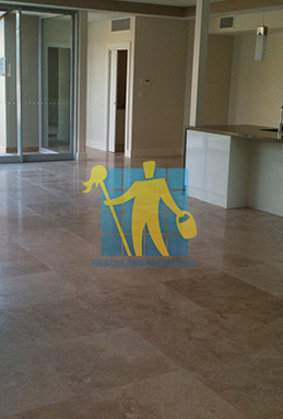 extra large porcelain floor tiles after cleaning empty room with kitchen Eastern Suburbs