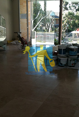 extra large porcelain floor tiles after cleaning empty room with polisher Eastern Suburbs