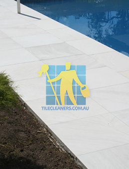 outdoor sandstone tile pool paving snow white Sydney