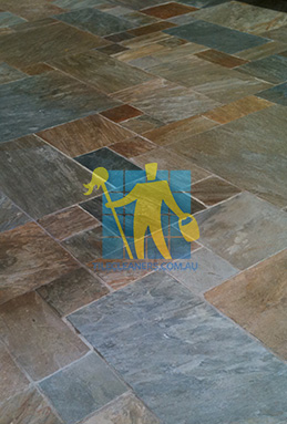 clean slate tiles unsealed after stripping and cleaning before sealing St George cleaning
