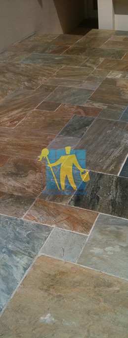 clean slate tiles unsealed after stripping and cleaning irregular sizes Sydney sealing