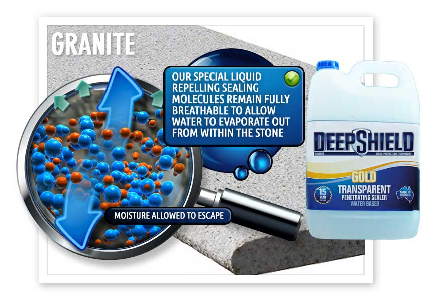 deepshield gold breathe granite