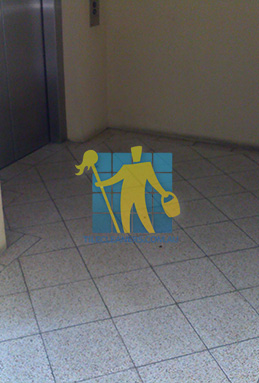 terrazzo tiles dirty floor entrance lift Sydney
